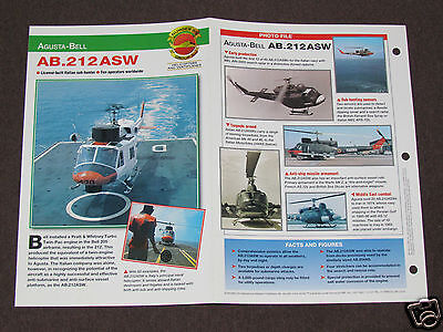AGUSTA-BELL AB.212 ASW Helicopter Photo Spec Sheet Booklet Brochure