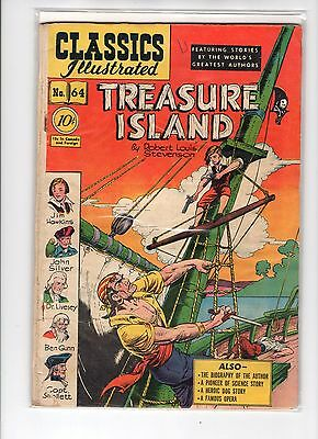 Classics Illustrated #64 HRN 62 (Original) VG- Alex Blum, Treasure Island
