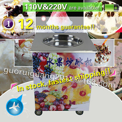 stainless steel ,single pan thai fried ice cream roll machine for Sorbet,juice