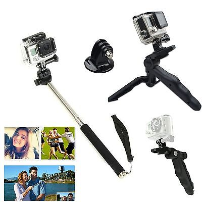 360 Rotation Mini Tripod Stand Handled Grip +Monopod For GoPro Hero 1 2 3 3+ 4