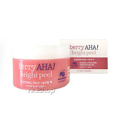 [ETUDE HOUSE] Berry AHA Bright Peel Sleeping Pack 100ml Rinishop