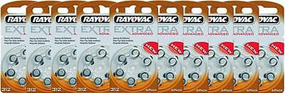Rayovac piles auditives taille 312