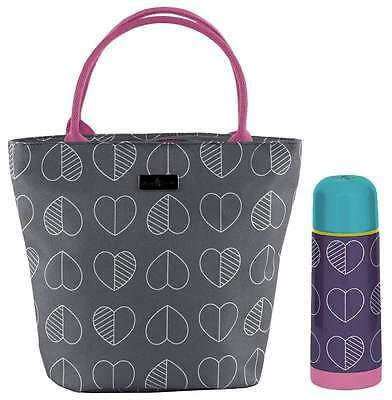 Beau & Elliot Confetti Outline Slate Lunch Tote and Vacuum Flask (350ml)