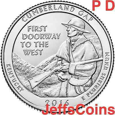 2016 PD Cumberland Gap National Historical Park QUARTER SET P D U.S. Mints 16abd
