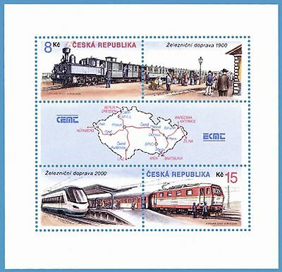 Czech Republic 2000 Train Railways MS  MNH