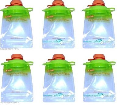 Reusable Baby Toddler or Adult Food Pouch (6 pack), Buy 2 Lots get 15% OFF