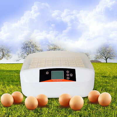 56 Eggs Home Incubator Fully Automatic Turning Poultry Chicken Quail Duck Goose