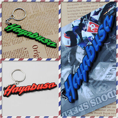 Rubber Motorcycle Key Chain For Hayabusa gsx1300r 99-12 Cool Keyring Keychain
