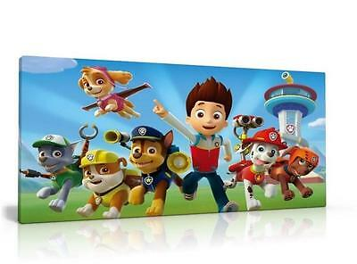 Single Canvas Picture Wall Art Paw Patrol Can Be Personalised   Free P&p