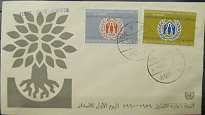 3130 Jordan 1960 World Refuge Fdc
