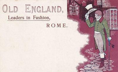 C3734) Abbigliamento, Roma, Old England Leaders In Fashion.