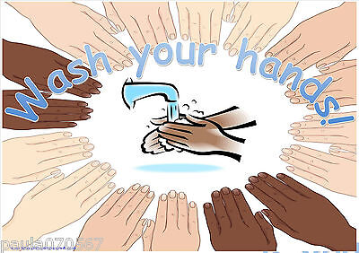 Wash your hands, Diversity A4 - A5  POSTERS~OFSTED~Nursery~Childminder~School