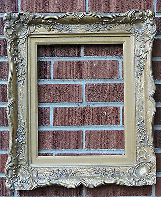 Vintage Mid-Century FRENCH STYLE Louis IV GOLD Flowers Picture Frame 11 x 14