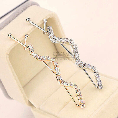 Fashion Women Crystal Rhinestone Twist Hair Clip Barrette Hairpin Pin Jewelry