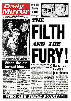 """Sex Pistols Filth and the Fury Punk Poster A1 Size 84.1cm x 59.4cm - 33"""" x 24"""""""