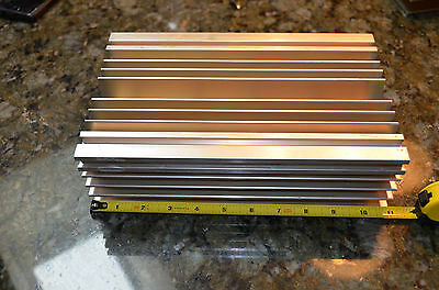 "Large Reclaimed Extruded Aluminum Heatsink 11""x6.75""x3.1"" Audio Amp Heavy Weight"