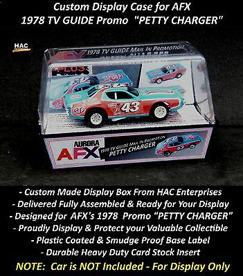 Custom Display Case AURORA AFX  TV Guide Promo   PETTY CHARGER  (Finally a Box)