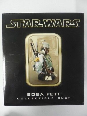 HAND SIGNED Jeremy Bulloch ~ 2003 BOBA FETT Mini Bust GENTLE GIANT UNDISPLAYED