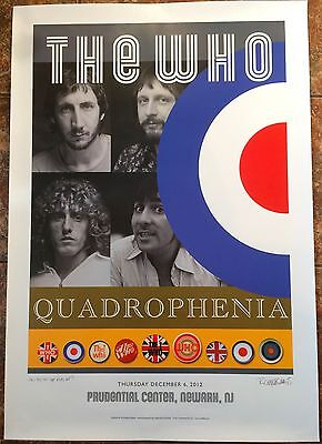 The Who - Newark Prudential Center - Limited Edition Quadrophenia Tour Poster