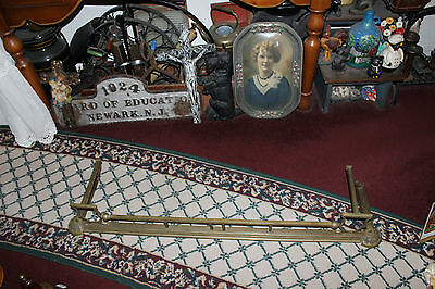 "Antique Fireplace Fender Surround Skirt-Copper & Brass-52"" Long-Arts & Crafts"