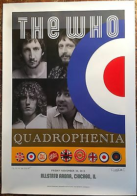 The Who - Chicago Allstate Arena - Limited Edition Quadrophenia 2012 Tour Poster