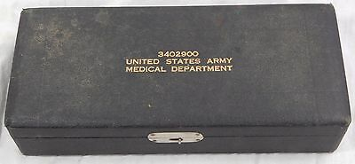 ATQ US ARMY MEDICAL VELVET LINED electric opthtalmoscope SYRINGE BOX