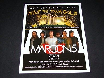 Maroon 5 - Live New Years Eve Las Vegas 15x12 Matted Concert Promo Poster NEW