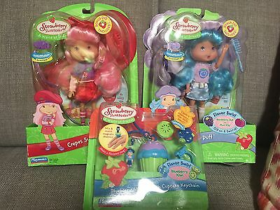Strawberry Shortcake Flavor Swirl Dolls Frosty Puff & Crepes Suzette - HTF!!!
