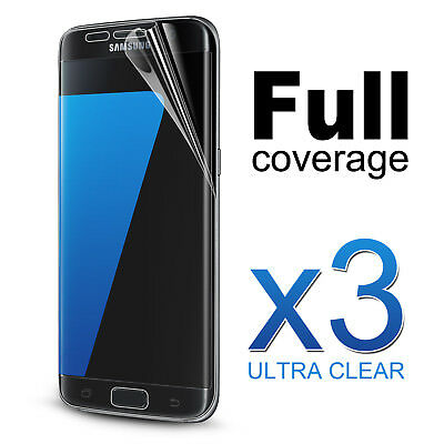 3x FULL Coverage Curved Clear Screen Protector For Samsung Galaxy S7 Edge
