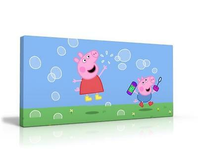 SINGLE CANVAS PICTURE WALL ART PEPPA GEORGE PIG FUN FAMILY brand NEW
