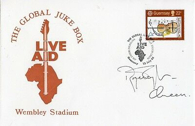 "Roger Taylor  ""Live Aid"" 1985 FDC Signed Queen"