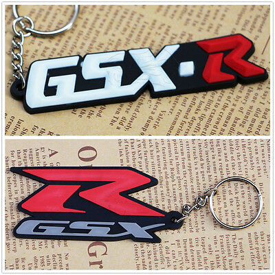 Rubber Motorcycle Key Chain For Suzuki GSX-R Cool Keyring Keychain New