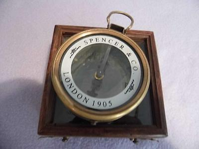 Vintage Style Solid Brass Map Reader Compass,magnifying Glass Spencer &co London