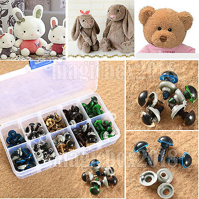 100pcs 5 Mixed Color Plastic Safety Eyes For Teddy Bear Animal Toy Doll Crafts