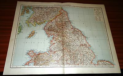 Antique Map ENGLAND AND WALES (NORTH) Cassell & Co 1893