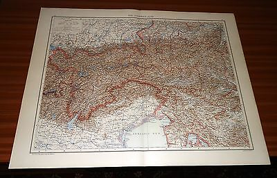 Antique Map THE AUSTRIAN ALPS Cassell & Co 1893