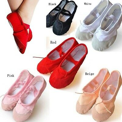 Canvas Ballet Pointe Dance Shoes Fitness Gymnastics Slippers for Kids Adult