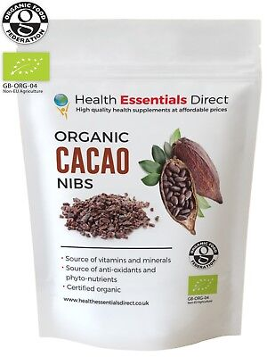 Organic Raw Cacao/Cocoa Nibs (Premium Criollo, Peruvian Superfood) Choose Size