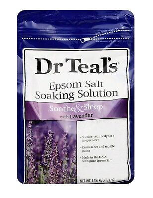 Dr Teal's Pure Epsom Salt Solution, Soothe - Sleep with Lavender 48 oz