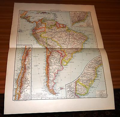 Antique Map SOUTH AMERICA Cassell & Co 1893