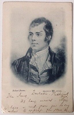 Robert Burns Antique Postcard 1903 Stamped Original Old