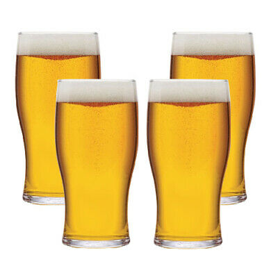 Tulip Plain Beer Pint Glass 20oz (56cl) Pack of 4