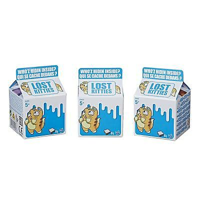 Hasbro Lost Kitties, Cestino di 3 Blind Bag Cartone del Latte, Gattini Assortiti