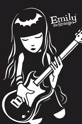 EMILY THE STRANGE ~ GUITAR 24x36 POSTER Cartoon Comic Book NEW/ROLLED!