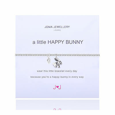 Joma Jewellery 'a little happy bunny ' bracelet in gift bag silver plated