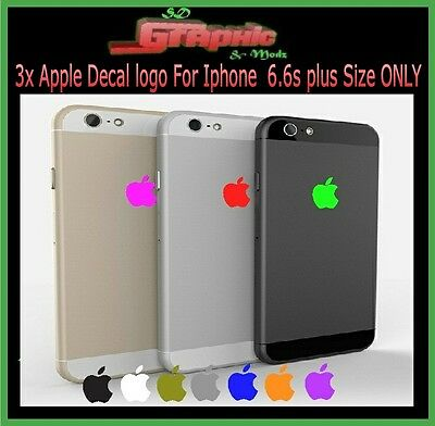 3x iphone 6plus / 6plus s / 7/ 8 Plus Apple Logo Skin Sticker Decal Film ONLY