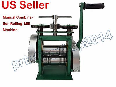 123mm Manual Jewelry Combination Rolling Mill DIY Tool
