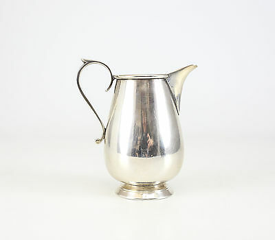 Christofle Silver Plate Footed Milk Creamer, c1930