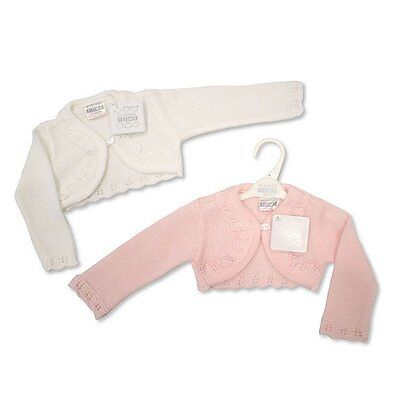 Newborn - 23 Months Baby Girls Knitted Fancy Cardigan Cardie Shrug Bolero
