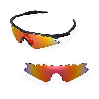 e46e17151c New WL Polarized Fire Red Vented Replacement Lenses for Oakley M Frame Sweep